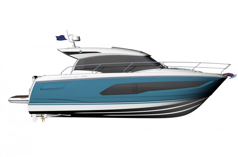 Prestige 420S floorplan - Lengers Yachts (3)